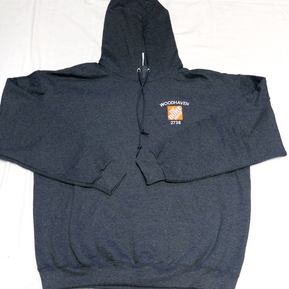f3bedd9e7 Jerzees Shirts | Home Depot Hoodie Sweatshirt Mens Sz Xl Nwot Grey ...